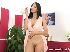 Sexy slut plays with an lovely speculum tube porn video