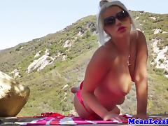 Lezdom Spencer Scott playing outside with pal tube porn video