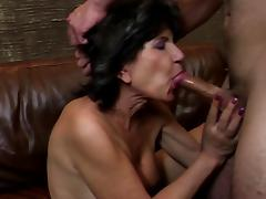 Old granny with thirsty holes fucked by young boy tube porn video
