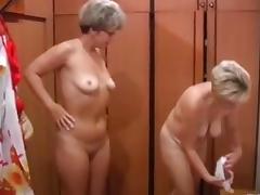 Russian moms Irina - Valia in the sauna tube porn video
