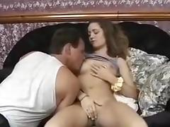 British blonde babe gets fucked by two guys tube porn video