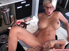 Euro Babe Puma Swede Fucks the Office Slut! tube porn video