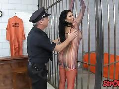 Prisoner slut trades handjob for release tube porn video