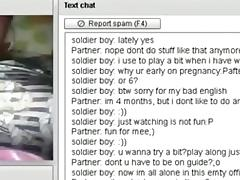 Pregnant girl has cybersex with a stranger on chat roulette tube porn video