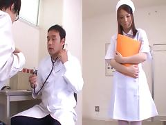 Big boobs nurse fondled and fucked by an eager doctor tube porn video