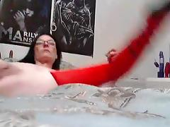 Using thick sex toy for anal sex tube porn video