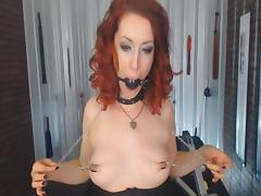 Mistress with Nipple Clamps and Ball Gags uses her Body tube porn video