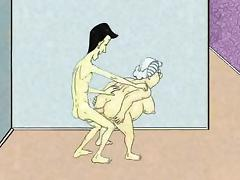 Sexy Anal Granny and Squirt! Animation! tube porn video