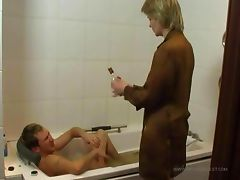 Son fucks nurse in the bathroom tube porn video