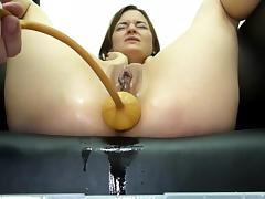 Miss April Suffers A Huge Soapy Enema With The Bardex tube porn video