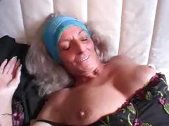 German granny gets some love from a younger man on the couch tube porn video