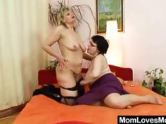 Two chubby cougars in yet another of their stunning lesbian sessions tube porn video