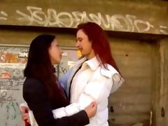 Italian Lesbian tube porn video