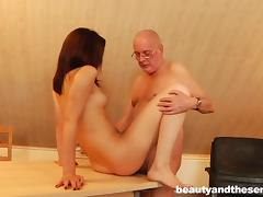 grandpa nails redhead chick tube porn video