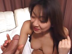 Mature Asian woman with a big bush banged by a younger guy tube porn video
