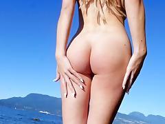 Dazzling outdoor nude scenes with blonde Heidi Michel tube porn video