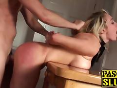 Amazing handcuffed blonde slut VIctoria fucked from behind tube porn video