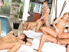 Bridgette B., Allie Jordan, Ally Kay, Alex Gonz, Sonny Hicks, Marco Rivera in Neighborhood Swingers, Scene #02 tube porn video