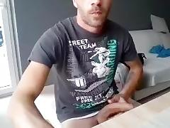 Lovely fag is playing in a small room and filming himself on webcam tube porn video