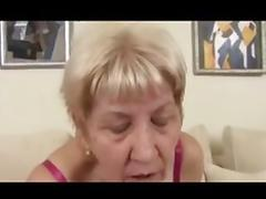 Beefy granny in stockings fucks tube porn video