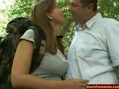 Fucking A Dutch MILF In Holland Park tube porn video