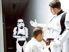 Hector De Silva, Luke Adams, Paddy O'Brian, Troopers in Star Wars 4 : A Gay XXX Parody - JizzOrgy tube porn video