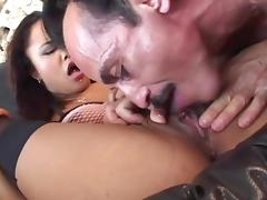 Tight bald cunt of Annie Cruz banged by a hard cock tube porn video