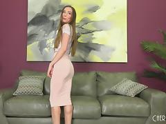 Gorgeous solo Capri Anderson strips and masturbates tube porn video