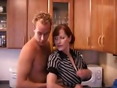 Dutch Mature Gloria 52 yo with young lover tube porn video