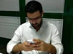 SEGAIOLO IN UFFICIO - jerking in the Office tube porn video
