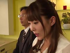 Slender Japanese sweetheart fucked hardcore in her hot box tube porn video