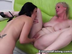 Chanel & Monika in Monika's Pussy Takes A Fist But Is Her Ass Big Enough Too? - FilthyAndFisting tube porn video