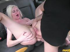 Lexi in Hot Blonde chooses sex over gym - FakeTaxi tube porn video