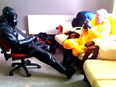 Two rubber friends. tube porn video