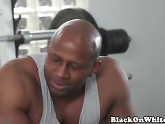 Pornstar Casey DPed in interracial trio tube porn video