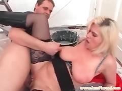 I am Pierced MILF Marina Pierced pussy in stockings cock rid tube porn video