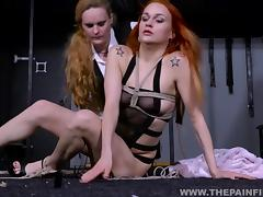 Kinky Dirty Marys lesbian electro bdsm and slavegirl humiliation of spanked amateur tube porn video
