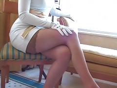 Women Wearing White Leather Gloves tube porn video