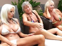 Kinky interracial threesome featuring ravishing mature slags tube porn video