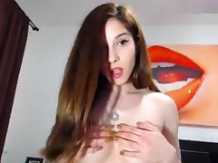 CuteHerminie: Perky Romanian girl gets naked and oils herself tube porn video