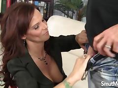 Big boobed Syren De mer enjoys a fat dick tube porn video