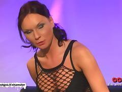 Wild tattooed MILF drinks cum - German Goo Girls tube porn video