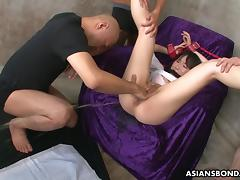 Filling that ass up with a syringe bdsm style tube porn video