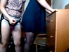 Crossdressing and pegging tube porn video