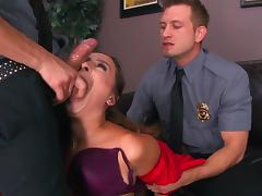 Police officers crazy hardcore pussy play with Ashley Adams tube porn video