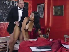 Top interracial sex with busty ebony beauty, Jenna J Foxx tube porn video