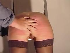 Sexy slavegirl caned tube porn video