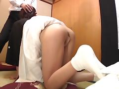 Subtitled Japanese funeral blowjob with enema explosion HD tube porn video