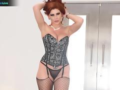 Nympho redhead Brooklyn Lee shaking in orgasms tube porn video