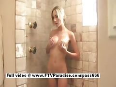 Julia from ftv babes blonde cute babe taking a shower tube porn video